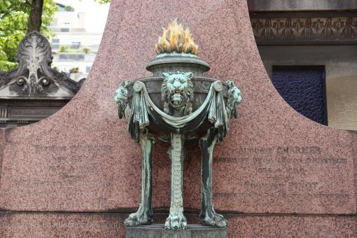 Free Stock Photo of Bronze art on a funerary monument