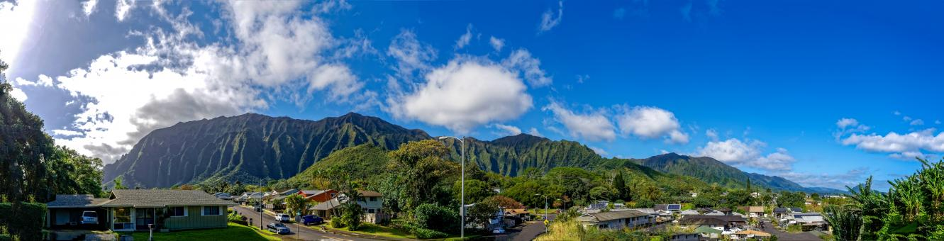 Free Stock Photo of Small Hawaiian Village Panorama