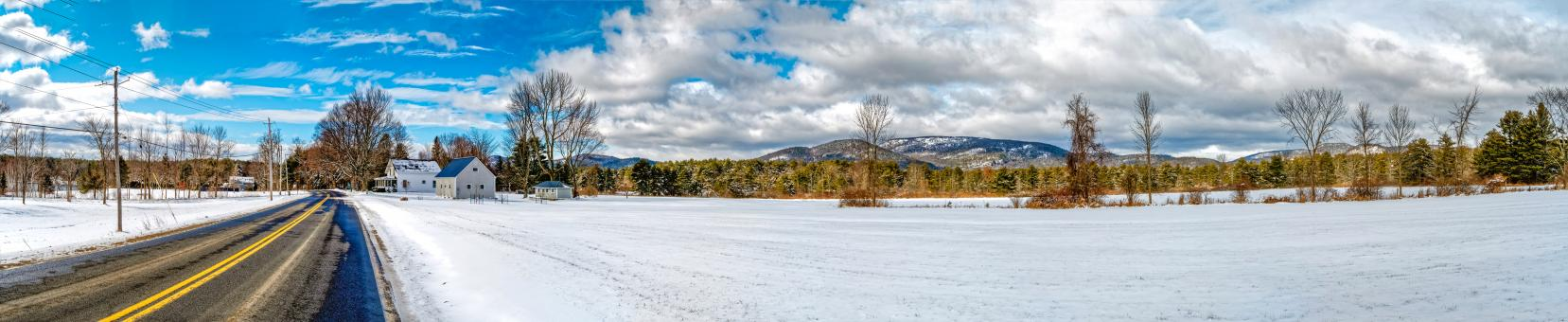 Free Stock Photo of Winter Landscape - Panorama