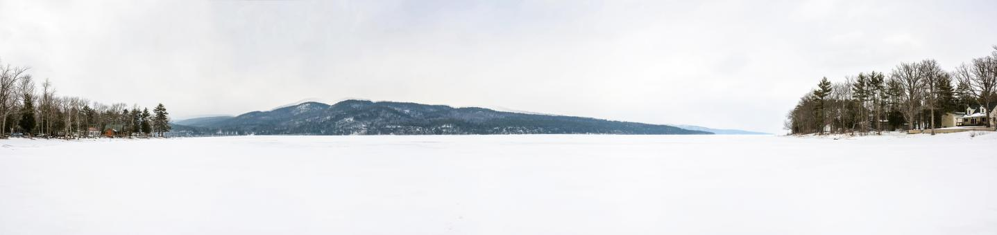 Free Stock Photo of Winter Frozen Lake