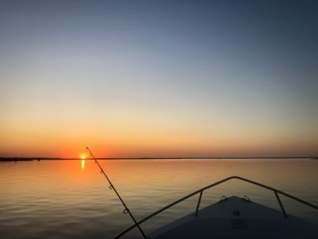 Free Stock Photo of Sunrise Fishing