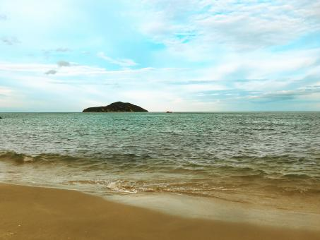 Free Stock Photo of Sand beach in the sea Prachuap Khiri Khan