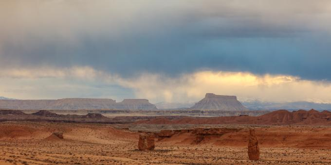 Free Stock Photo of Utah Panorama Stormset