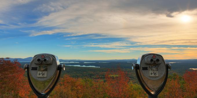 Free Stock Photo of Binocular Panorama - Castle in the Clouds