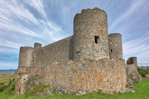 Free Stock Photo of Harlech Castle