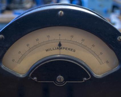Free Stock Photo of Antique Analog Meter