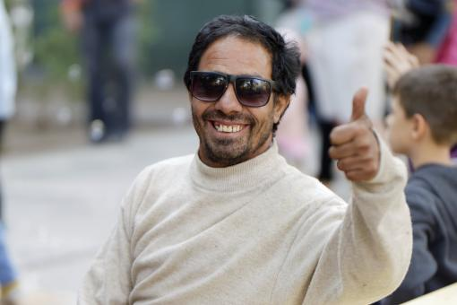 Free Stock Photo of Man Portrait - Thumbs Up