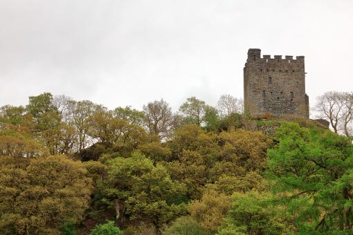 Free Stock Photo of Dolwyddelan Castle Tower Hill