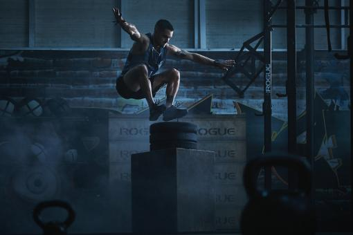 Free Stock Photo of Crossfitter Jumping