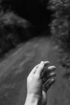 Free Stock Photo of Hand - Black and White
