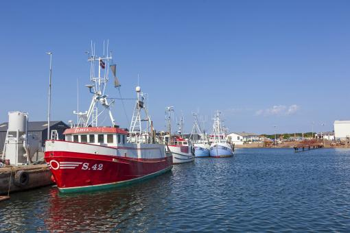 Free Stock Photo of Fishing vessels moored at a dock