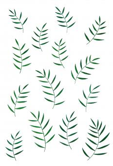 Free Stock Photo of Green Leaves Illustration