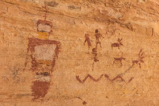 Free Stock Photo of Wild Horse Window Pictographs