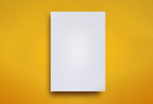 Free Stock Photo of  Empty White Paper Sheet on Yellow Background