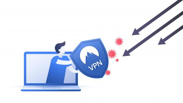 Free Stock Photo of VPN (Virtual Private Network) usage scheme