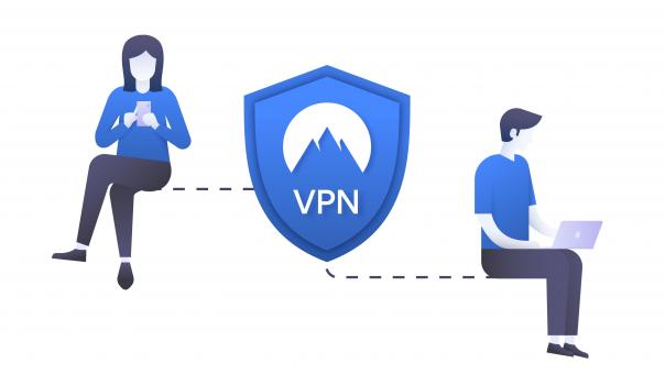 Free Stock Photo of How a VPN works illustration