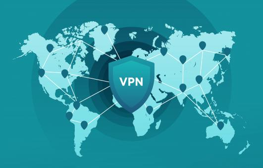 Free Stock Photo of VPN connection map