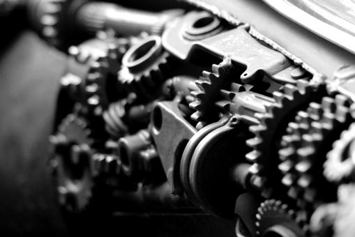 Free Stock Photo of Black And White Engine Cogs and Gears