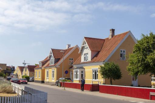 Free Stock Photo of Resident Street in Skagen, Denmark