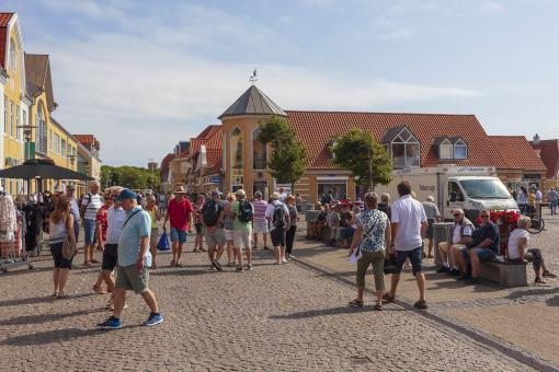 Free Stock Photo of Crowded Street in Skagen, Denmark