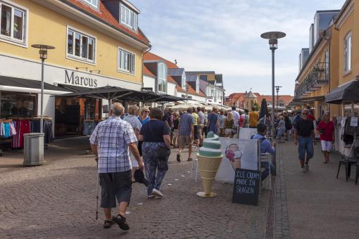Free Stock Photo of Tourists in Skagen, Denmark