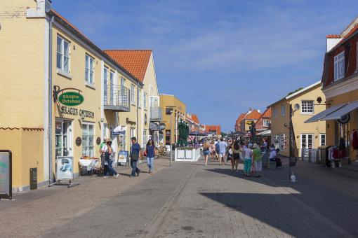 Free Stock Photo of Shopping Street in Skagen, Denmark