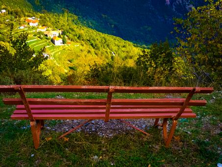 Free Stock Photo of The Red Bench