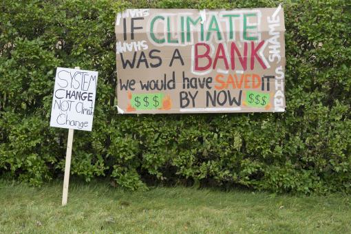 Free Stock Photo of Signs at a climate protest