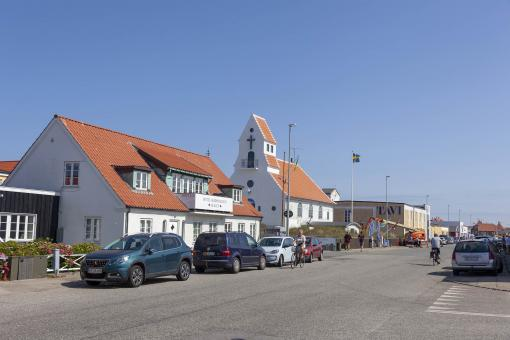 Free Stock Photo of Main shopping district in Skagen