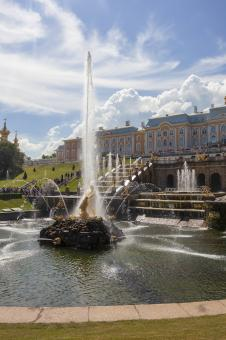 Free Stock Photo of Fountain in Peterhof Palace, St. Petersburg