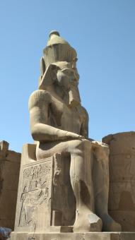 Free Stock Photo of Ramses II in Luxor Temple
