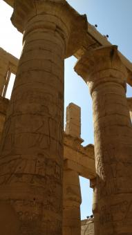 Free Stock Photo of Ancient Pillars of Luxor