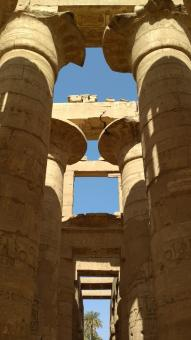Free Stock Photo of Ancient Temple Pillars in Luxor