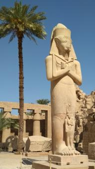 Free Stock Photo of Pharaonic statue in Luxor