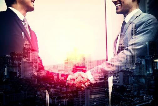 Free Stock Photo of Business - Agreement - Businessmen Shaking Hands