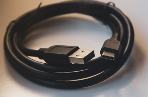 Free Stock Photo of Coiled USB Cable