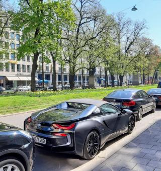 Free Stock Photo of Luxury BMW I8 car in Munich, Germany