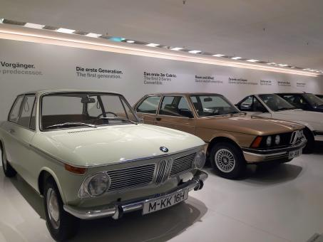 Free Stock Photo of Old BMW Cars Exhibition