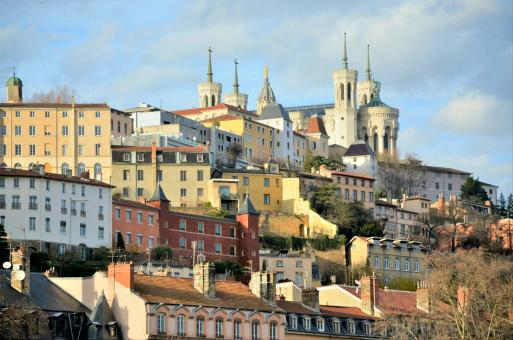 Free Stock Photo of View of old town Lyon in France