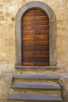 Free Stock Photo of Brown wooden door