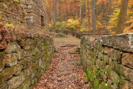 Free Stock Photo of Autumn Furnace Walls - Roaring Run