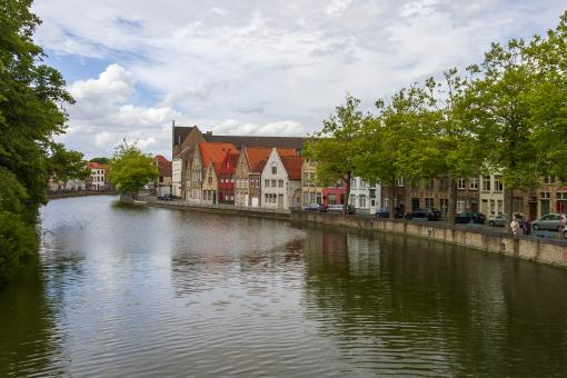 Free Stock Photo of Canal in Bruges, Belgium
