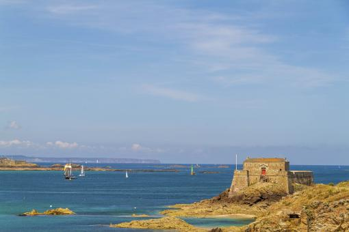 Free Stock Photo of Fortress in Saint Malo, France
