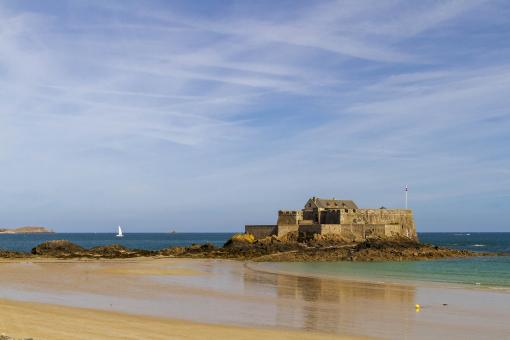 Free Stock Photo of Fort National - Saint Malo Beach