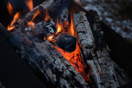 Free Stock Photo of Hot coals in fire