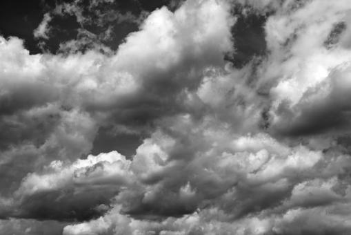 Free Stock Photo of Black and White Clouds