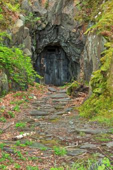 Free Stock Photo of Forbidden Mine Passage