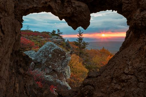 Free Stock Photo of Autumn Sunrise Love - Dolly Sods