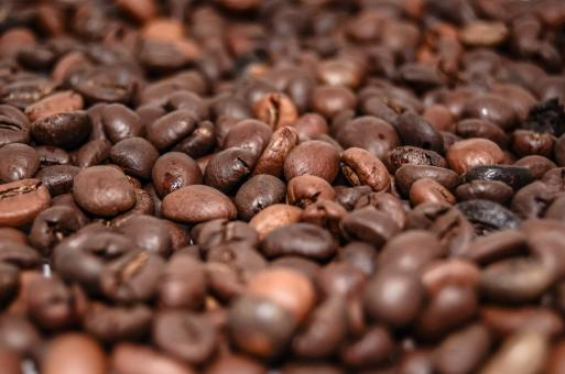 Free Stock Photo of Coffee Beans Close Up