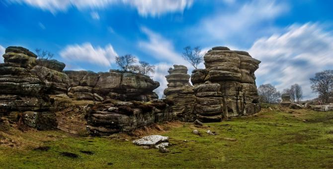 Free Stock Photo of Brimham Rock Formations